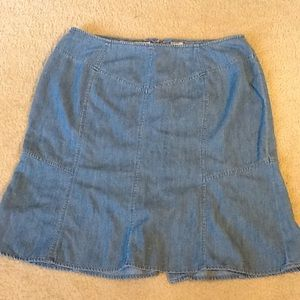 Talbots denim skirt. Size 14W